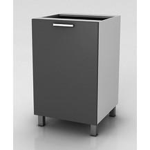 Kuchyňská skříňka Natanya D301D šedý lesk