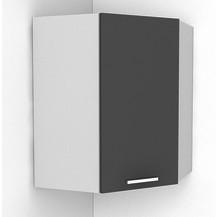 Rohová kuchyňská skříňka Natanya NG šedý lesk