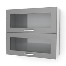 Kuchyňská skříňka Natanya KL702W šedý lesk