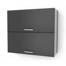 Kuchyňská skříňka Natanya KL802D šedý lesk
