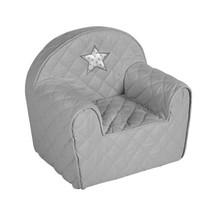 Dětské křesílko/pohovečka Hvězdička - šedé