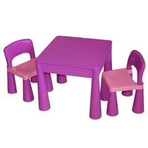 TEGA Sada nábytku pro děti - stoleček a 2 židličky - fialová