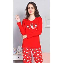 Dámské pyžamo dlouhé Tučňáčci