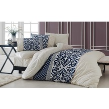 Bavlněný povlak na polštář Natalia modrobéžová, Výběr rozměru: 40x40