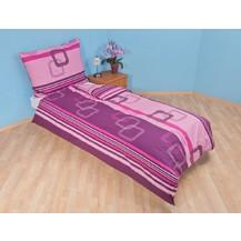Bavlněný povlak na polštář Čtverce fialové, Výběr rozměru: 30x40