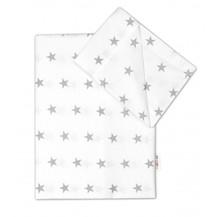 2 dílné bavlněné povlečení 120x90 - Hvězdičky v bílém