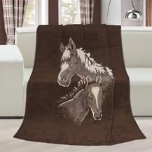 Deka Karmela jednolůžko 150x200cm koně