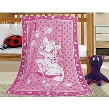 Dětská bavlněná deka 100x140 cm kočička