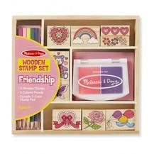 Dřevěná razítka v krabici - Přátelství