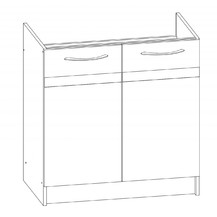 Kuchyňská skříňka Largo 09/D80Z sonoma světlá