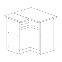Kuchyňská skříňka Largo 12/D90N P sonoma světlá