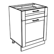 Kuchyňská skříňka Kingston 16/D60S1 dub wotan