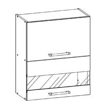 Kuchyňská skříňka Sergio 08/G60Wo bílá/bílý lesk