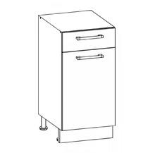 Kuchyňská skříňka Sergio 13/D40S1 bílá/bílý lesk