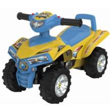 Dětské odrážedlo, čtyřkolka Quad- žlutá/modrá