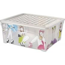 BOX s víkem 18,5L - PANENKY (03002-B22)