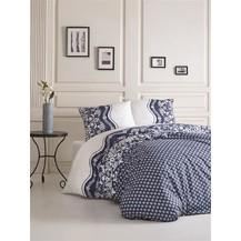 Povlečení francouzské bavlna 220x220,70x90 Dafne blue, Výběr zapínání: nitěný knoflík