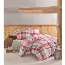 Povlečení francouzské bavlna 220x220,70x90 Carla pink, Výběr zapínání: nitěný knoflík