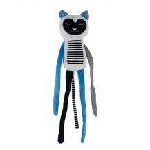 Plyšová hračka s rolničkou Spící lemur - modrý