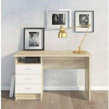 Psací stůl Felix 134 oak/bílá