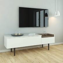 TV stolek Ulla 148 bílá/ořech