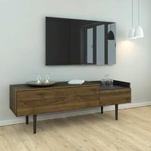 TV stolek Ulla 148 ořech/černá