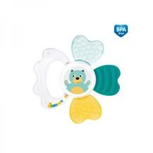 Chrastítko s chladícím kousátkem Canpol Babies Zvířatka - zelené