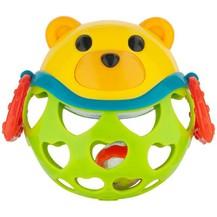 Interaktivní hračka Canpol Babies, míček s chrastítkem - Medvídek