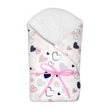 Zavinovačka na zavazování Baby Nellys - Srdíčka růžové, bílé