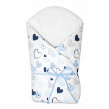 Zavinovačka na zavazování Baby Nellys - Srdíčka modré, bílé