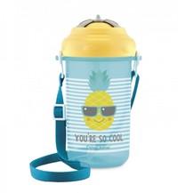 Sportovní láhev se slámkou So Cool - Ananas