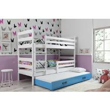 Patrová postel s přistýlkou Norbert bílá/morá