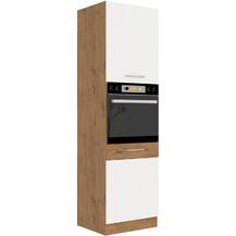 Kuchyňská skříňka Vega 60DP210-2F dub lancelot/bílý lesk