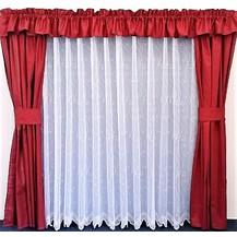 Záclona kusová - Paví oka 160x400 cm (bílá)