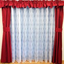 Záclona kusová - Markéta 220x200 cm (bílá)
