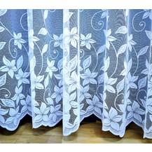 Záclona kusová - Vanda 240x200 cm (bílá)