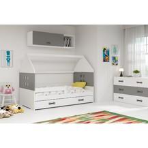 Dětská postel Dominik 80x160 bílá/grafit