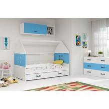 Dětská postel Dominik 80x160 bílá/modrá