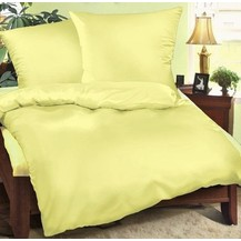 Bavlněné povlečení francie  2x70x90 + 240x200 cm světle žluté