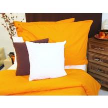 Bavlněný povlak na polštářek 40x40cm oranžová