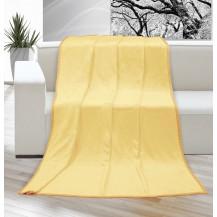 Deka micro jednolůžko 150x200cm světle žlutá