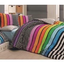 Prodloužené povlečení bavlna 140x220, 70x90cm Stripes DUO, Výběr zapínání: zipový uzávěr