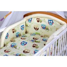 Bavlněné povlečení Baby Dreams Kolekce - Sovičky - krémové