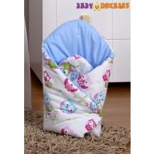 Zavinovačka Kolekce Sovičky - modré Baby Dreams