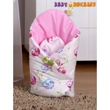 Zavinovačka Kolekce Sovičky - růžové Baby Dreams