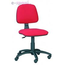 Kancelářská židle Eco 5 červená - Klasická kolečka