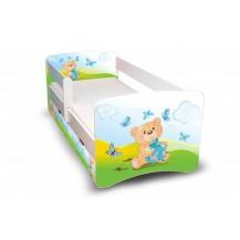 Dětská postel Medvídek s dárečkem II. s šuplíkem