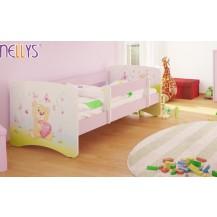 Dětská postel Nellys ® - Míša srdíčko/sv.růžová NELLYS