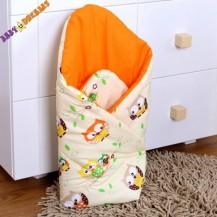 Zavinovačka Kolekce Sovičky - krémové/oranžové Nellys Baby Dreams