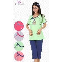 Dámské pyžamo kapri mateřské Zajíc a méďa